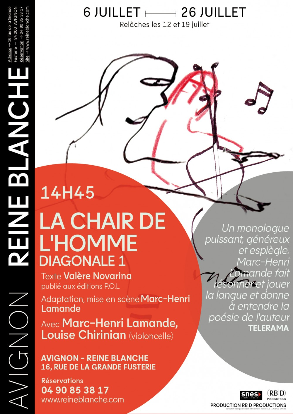 La Chair de l'homme - Diagonale 1 - © Reine Blanche
