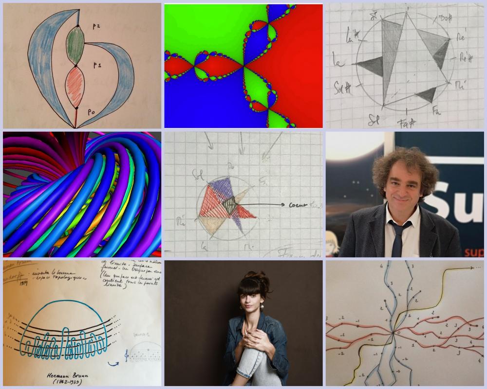 Interactions intemporelles, la mise en musique, et en image, d'une exploration mathématique - © Reine Blanche