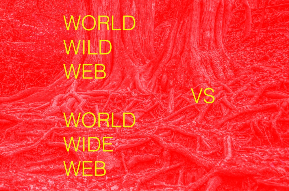 WWW vs WWW (World Wide Web vs Wood World Wired), la lutte pour le réseau - © Reine Blanche